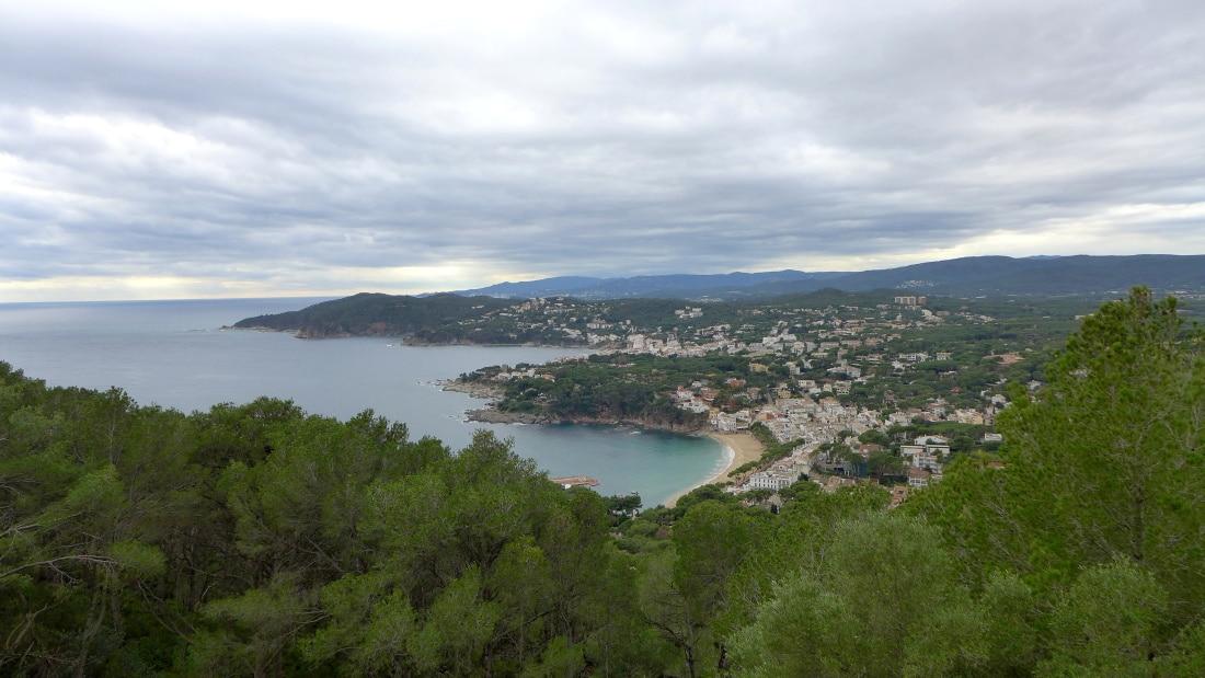 Blick auf Strecke Cami de Ronda