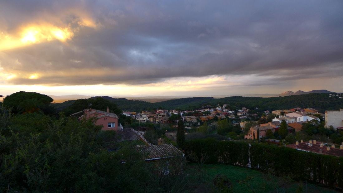 Sicht von Begur am Abend