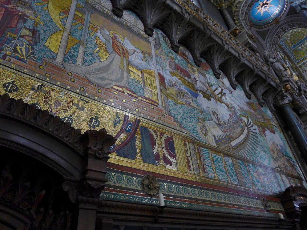 prächtiges mosaik basilika notre-dame de fourvière